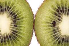 Fruits of fresh green  kiwi close up Stock Images