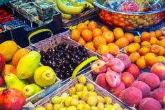 Fruits. Fresh fruits at a market Stock Photo
