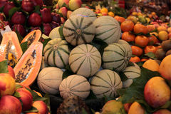 Fruits. Fresh ripe tasty fruits are sold in the market Royalty Free Stock Image