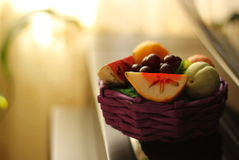 Fruits. Fruit basket with a nice background Royalty Free Stock Image