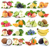 Fruits fruit collection orange apple apples banana strawberry is Royalty Free Stock Images