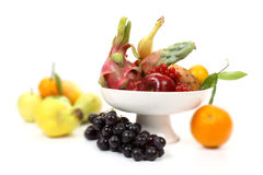 Fruits on a fruit-dish Stock Photography