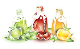 Fruits and fruit juices Royalty Free Stock Image