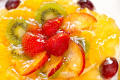 Fruits with gelatin Royalty Free Stock Photo