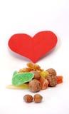 Fruits glacés doux d'amour écrous Images libres de droits