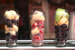 Fruits in glasses Stock Photos