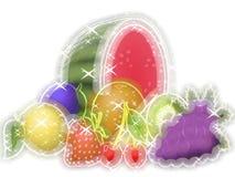 Fruits glowing background Stock Image