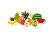 Fruits goods icons. Vector Illustration Stock Photography