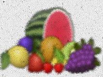 Fruits graffiti mosaic generated texture Royalty Free Stock Photo