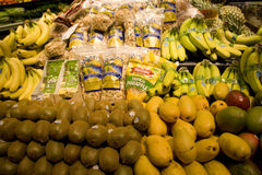 Fruits in grocery store Royalty Free Stock Photo