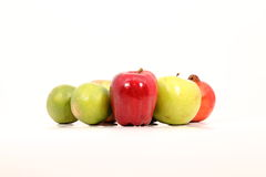 Fruits. A group of fruits on white background Royalty Free Stock Photography