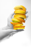 Fruits in hands Stock Photography