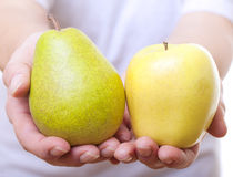 Fruits in hands. Stock Photos