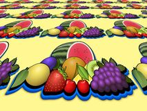 Fruits heap perspective image Royalty Free Stock Photos