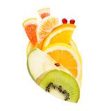 Fruits for heart. Royalty Free Stock Photo