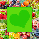Fruits and heart Royalty Free Stock Photo