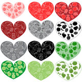 Fruits hearts Stock Image