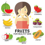 Fruits for heathy skin Royalty Free Stock Image