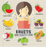 Fruits for heathy skin Stock Image