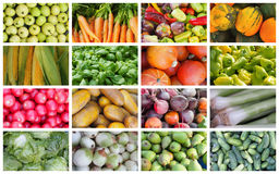 Fruits, herbs and vegetables Stock Photography