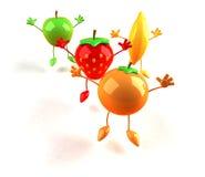 Fruits heureux Photos libres de droits