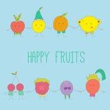 Fruits heureux illustration libre de droits