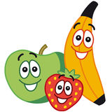 Fruits heureux illustration stock