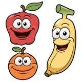 Fruits heureux de bande dessinée Images libres de droits