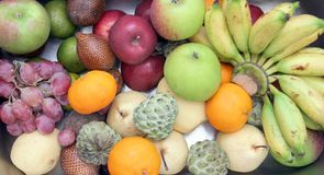 Fruits high angle Stock Image