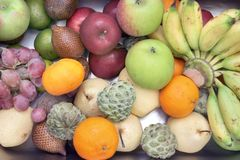 Fruits High Angle Stock Images