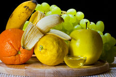 Fruits and honey Royalty Free Stock Photo