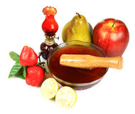 Fruits and honey spa Royalty Free Stock Images