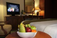 Fruits in hotel room Royalty Free Stock Photo