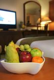 Fruits in hotel room Royalty Free Stock Photos