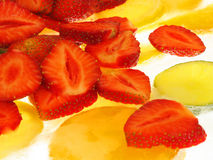 Fruits on Ice. Strawberries on Ice Royalty Free Stock Images
