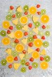 Fruits on ice Royalty Free Stock Image
