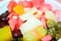 Fruits Ice porridge Royalty Free Stock Photography