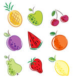 Fruits icon Royalty Free Stock Photos