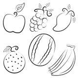 Fruits Icon Designs Stock Photos