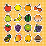 Fruits icon set Stock Images
