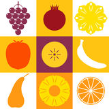Fruits. Icon Set Stock Photo