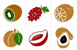 Fruits icon set two Stock Image