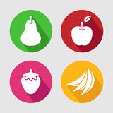Fruits icon set. Vector EPS10. Stock Photography