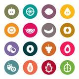 Fruits icon set. Vector Illustration stock illustration
