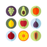 Fruits. Icon Set. Vector illustration (EPS 10 Stock Images