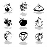 Fruits icons 1 Stock Image