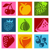 Fruits icons 1 Stock Images