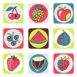 Fruits icons 1 royalty free stock photography