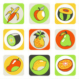 Fruits icons 2 Stock Photo