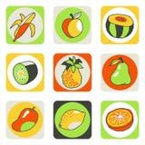 Fruits icons 2 stock photo